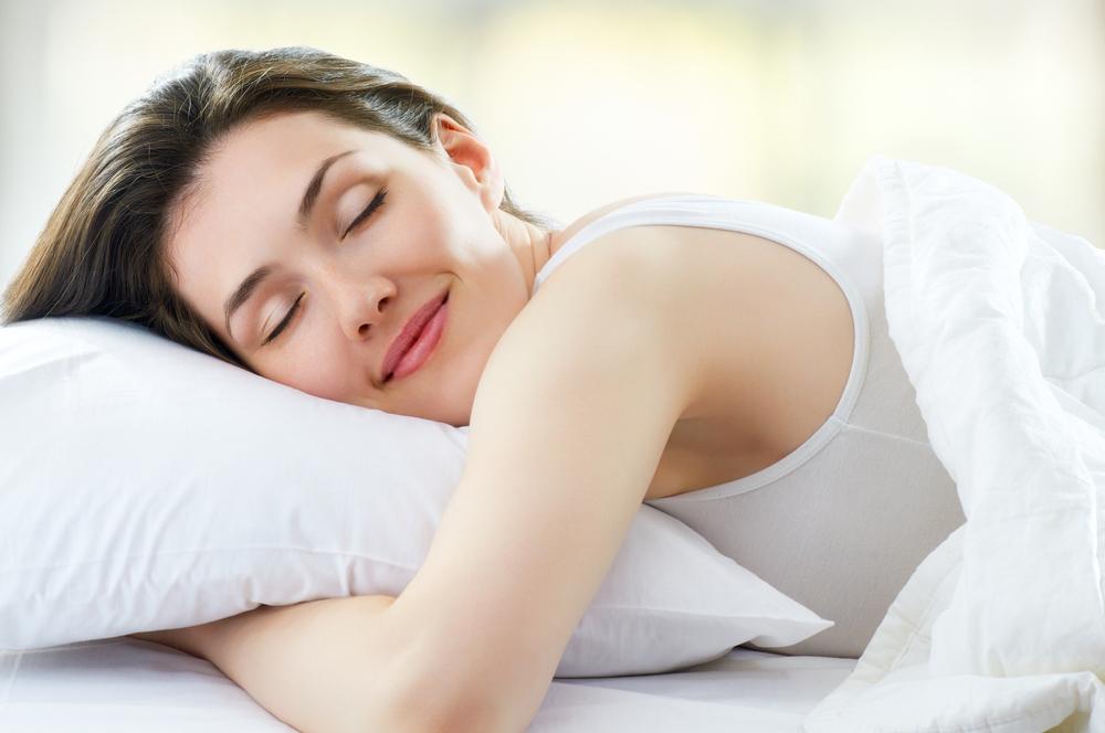 woman comfortably sleeping