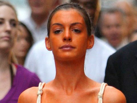 terrible fake tanned woman