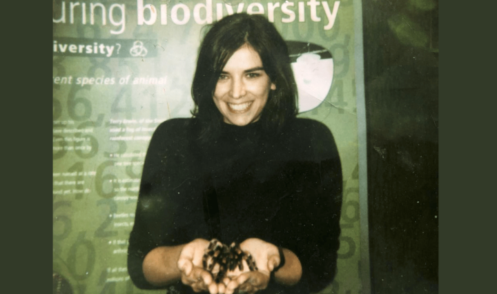 Holding a tarantula at london zoo