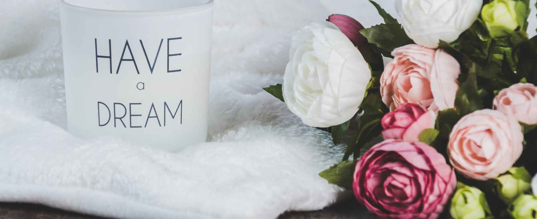 Flowers and Candle lifestyle shot