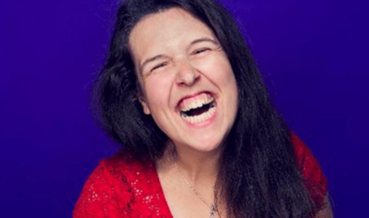 Rosie Jones comedian smiling