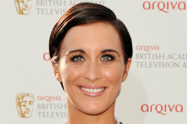 Vicky McClure close up head shot looking red carpet ready