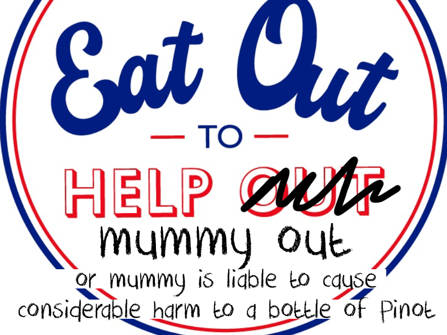 eat out to help out spoof logo