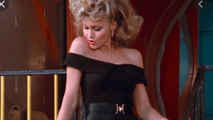 Sandra D in Grease final scene