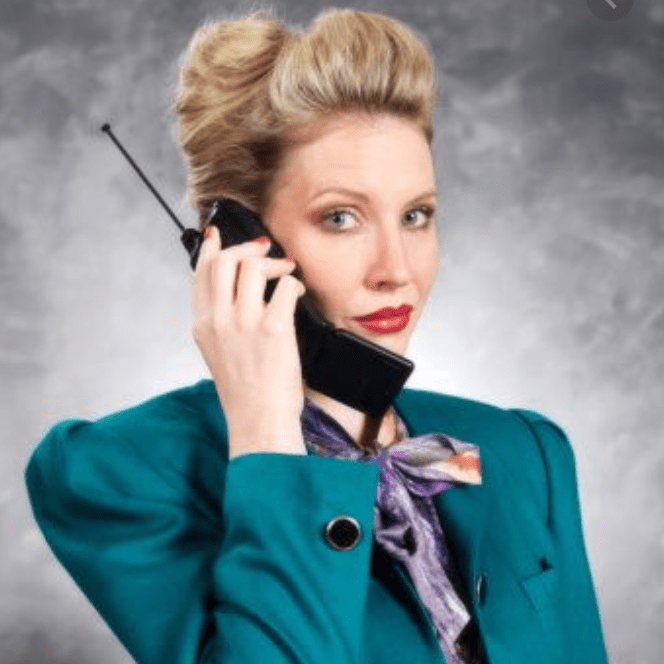 80s business woman power dressed