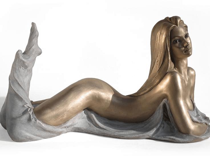bronze goddess statue