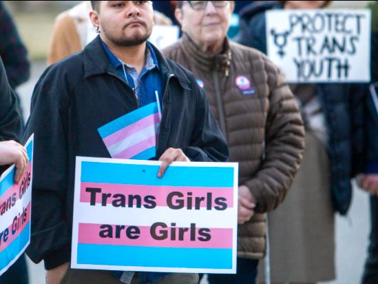 trans gender protesters