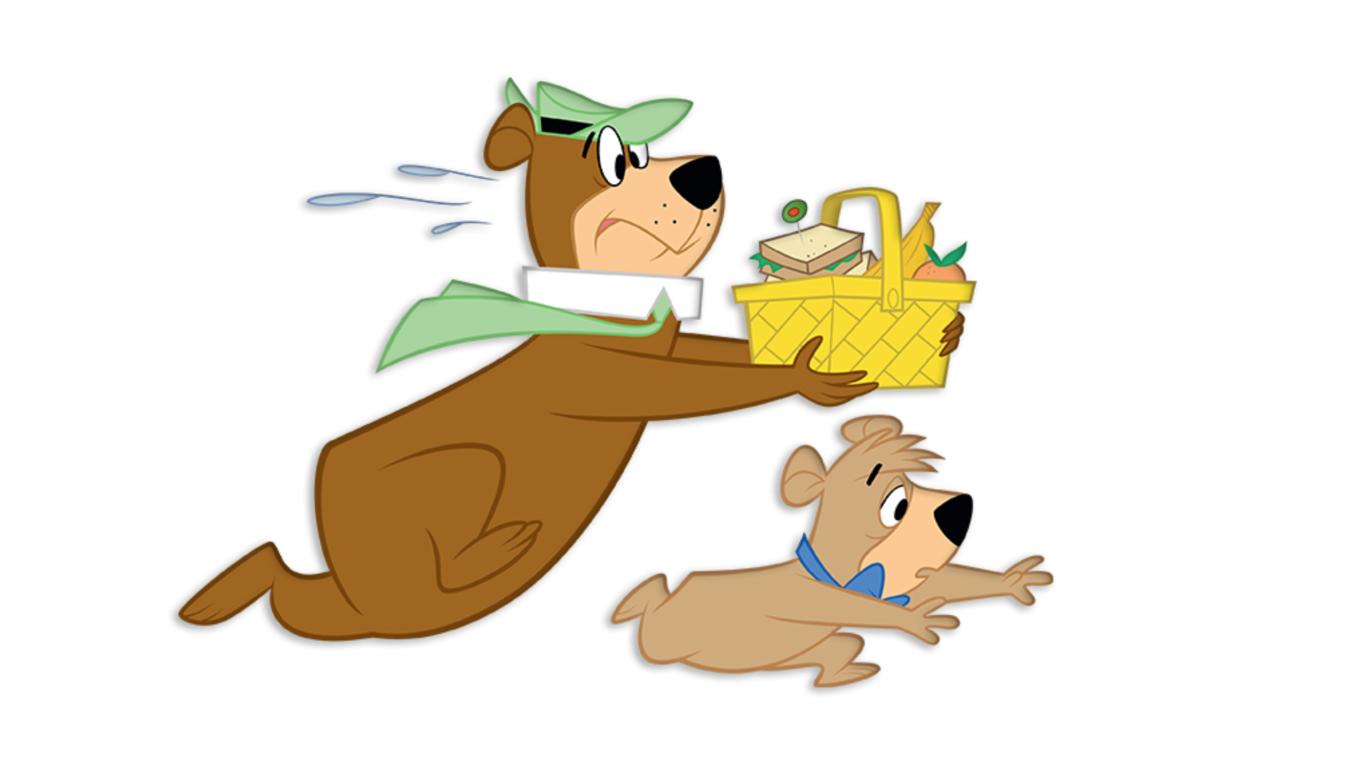 yogi bear and booboo with picnic basket